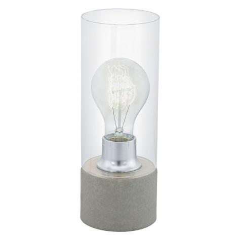 Eglo 94549 - Stolní lampa TORVISCO 1xE27/60W/230V šedá