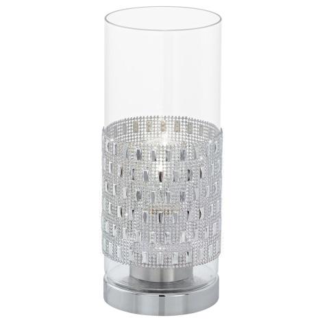 Eglo 94619 - Stolní lampa TORVISCO 1xE27/60W/230V krystaly