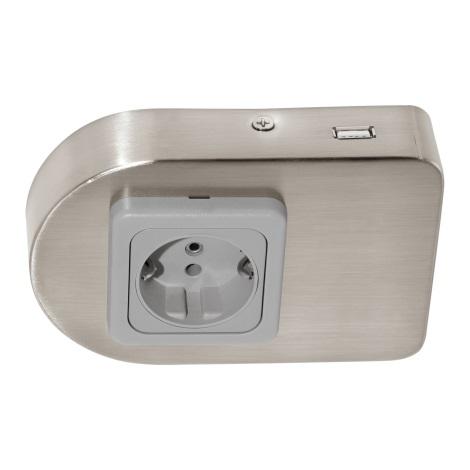 Eglo 94662 - Podlinková zásuvka vč.USB TAXANO