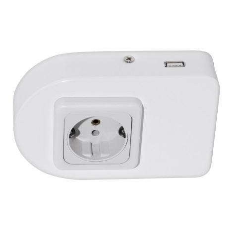 Eglo 94663 - Podlinková zásuvka vč.USB TAXANO