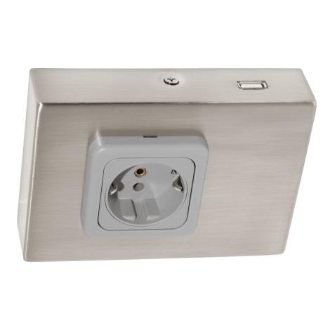 Eglo 94664 - Podlinková zásuvka vč.USB TAXANO