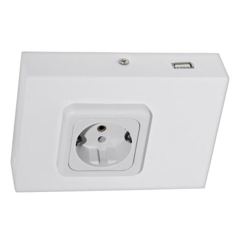 Eglo 94665 - Podlinková zásuvka vč.USB TAXANO
