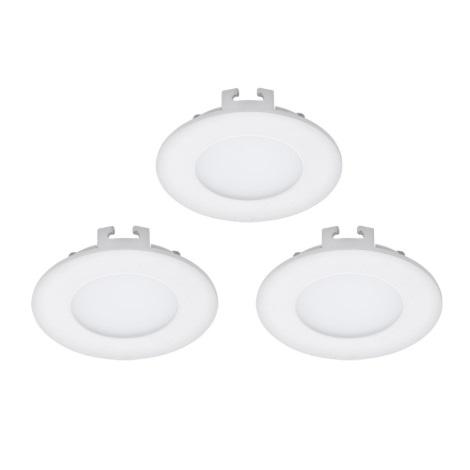 Eglo 94732 - SADA 3x LED Podhledové svítidlo FUEVA 1 3xLED/2,7W/230V