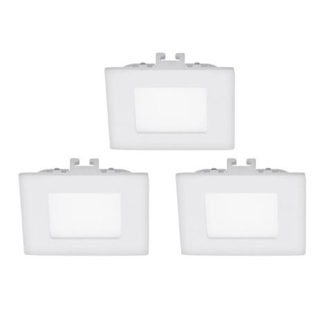 Eglo 94733 - SADA 3x LED Podhledové svítidlo FUEVA 1 3xLED/2,7W/230V