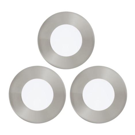 Eglo 94734 - SADA 3x LED Podhledové svítidlo FUEVA 3xLED/2,7W/230V