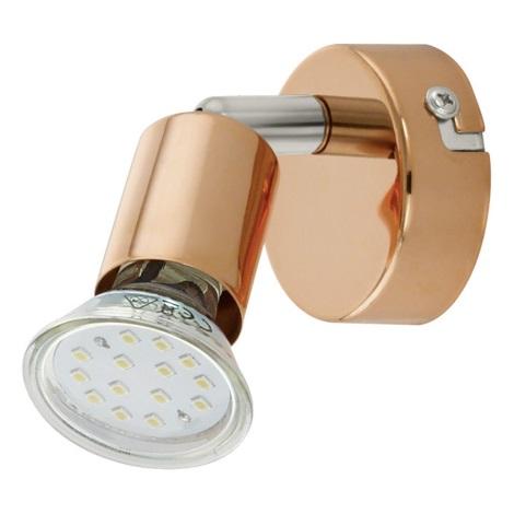 Eglo 94772 - LED bodové svítidlo BUZZ-COPPER 1xGU10/3W/230V
