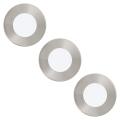 Eglo 94777 - SADA 3x LED podhledové svítidlo FUEVA 1 3xLED/2,7W/230V