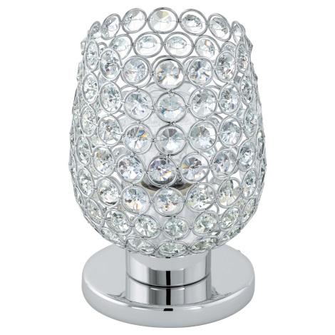 Eglo 94899 - Křišťálová stolní lampa BONARES 1 1xE27/60W/230V