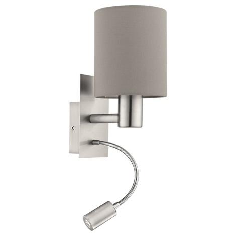 Eglo 94931 - LED nástěnné svítidlo PASTERI 1xE27/60W + LED/2,4W