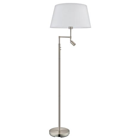 Eglo 94946 - Stojací lampa SANTANDER 1xE27/60W + 1xLED/2,1W