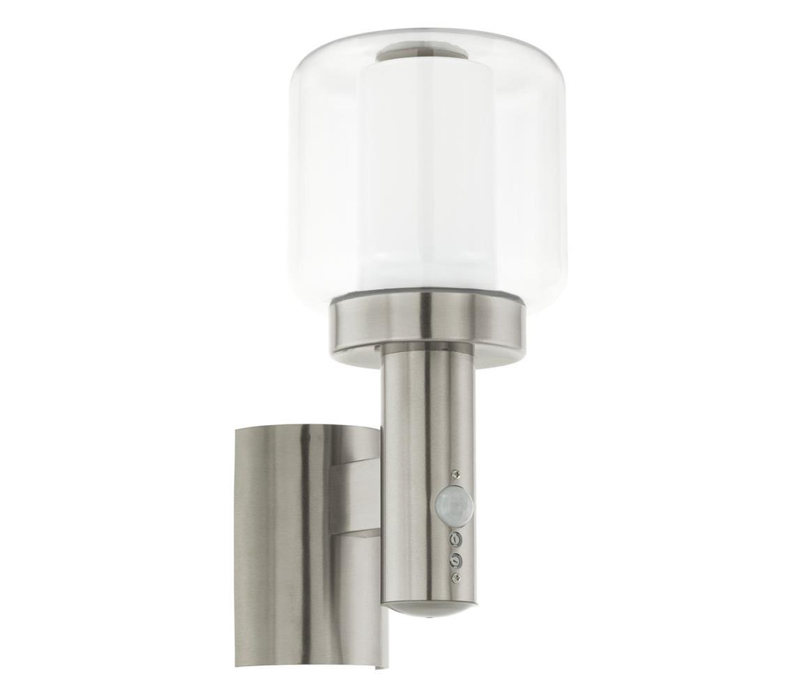 Eglo 95017 - Venkovní nástěnné svítidlo s čidlem POLIENTO 1xE27/40W IP44 EG95017