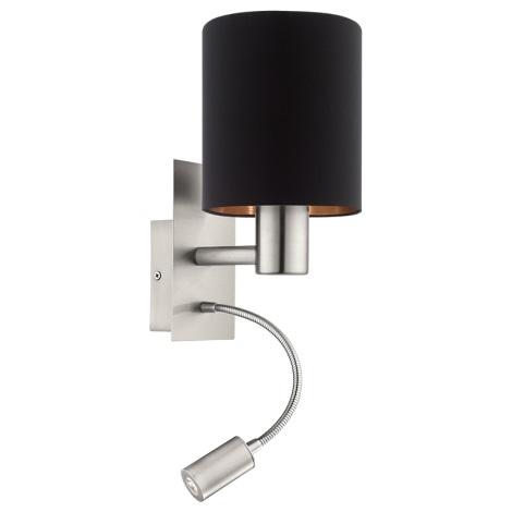 Eglo 95049 - LED nástěnné svítidlo MASERLO 1xE27/60W + LED/2,4W