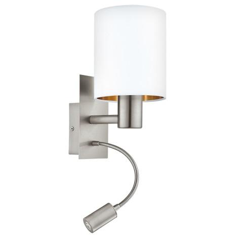 Eglo 95051 - LED nástěnné svítidlo PASTERI 1xE27/60W + LED/2,4W