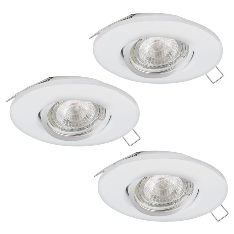 Eglo 95357 - SADA 3x LED podhledové svítidlo TEDO 3xGU10-LED/5W/230V