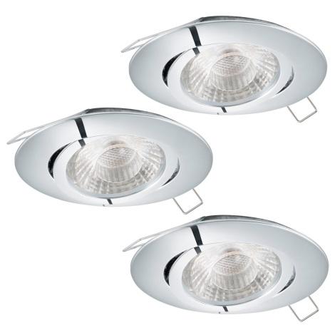 Eglo 95358 - SADA 3x LED podhledové svítidlo TEDO 3xGU10-LED/5W/230V