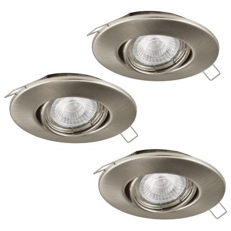 Eglo 95359 - SADA 3x LED podhledové svítidlo TEDO 3xGU10-LED/5W/230V