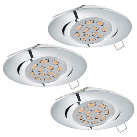 Eglo 95362 - SADA 3x LED podhledové svítidlo TEDO 3xGU10-LED/5W/230V