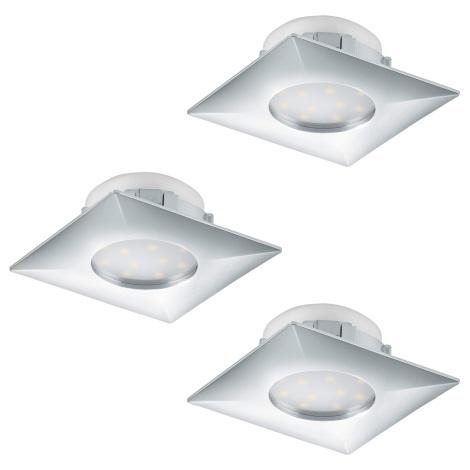 Eglo 95802 - SADA 3x LED podhledové svítidlo PINEDA 3xLED/6W/230V