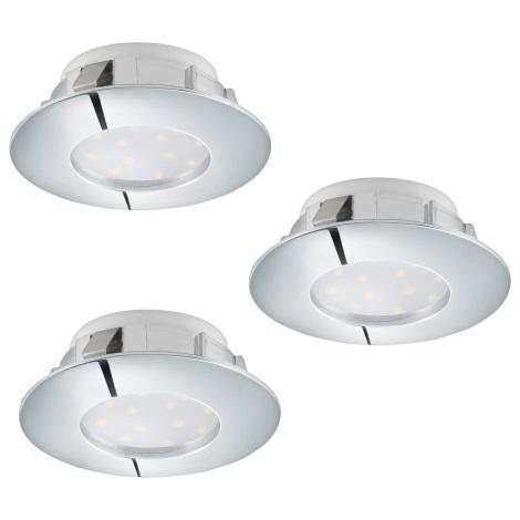 Eglo 95808 - SADA 3x LED podhledové svítidlo PINEDA 3xLED/6W/230V