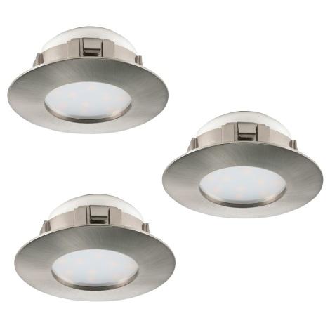 Eglo 95809 - SADA 3x LED podhledové svítidlo PINEDA 3xLED/6W/230V