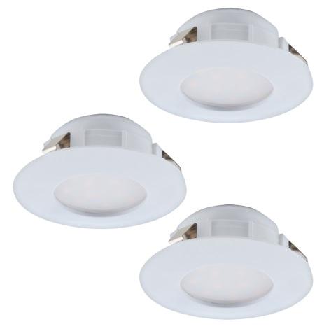 Eglo 95814 - SADA 3x LED podhledové svítidlo PINEDA 3xLED/6W/230V