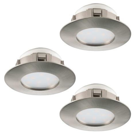 Eglo 95816 - SADA 3x LED podhledové svítidlo PINEDA 3xLED/6W/230V