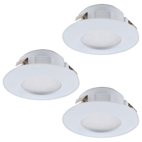 Eglo 95821 - SADA 3x LED podhledové svítidlo PINEDA 3xLED/6W/230V