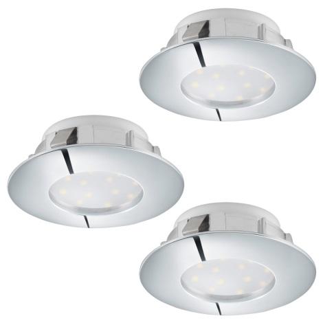 Eglo 95822 - SADA 3x LED podhledové svítidlo PINEDA 3xLED/6W/230V