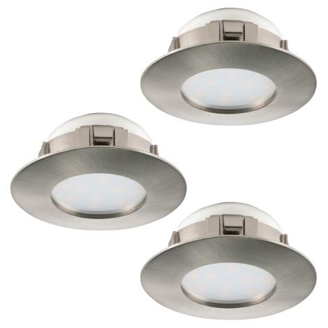 Eglo 95823 - SADA 3x LED podhledové svítidlo PINEDA 3xLED/6W/230V
