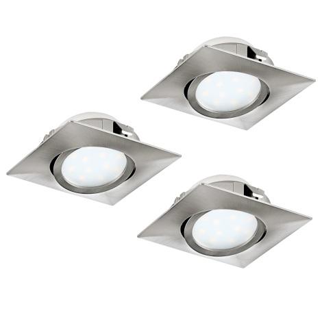 Eglo 95846- SADA 3x LED podhledové svítidlo PINEDA 3xLED/6W/230V