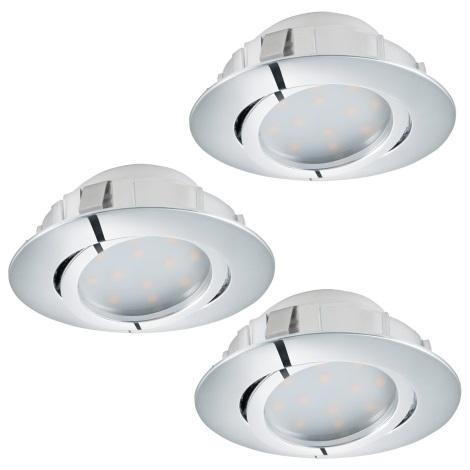 Eglo 95852 - SADA 3x LED podhledové svítidlo PINEDA 3xLED/6W/230V