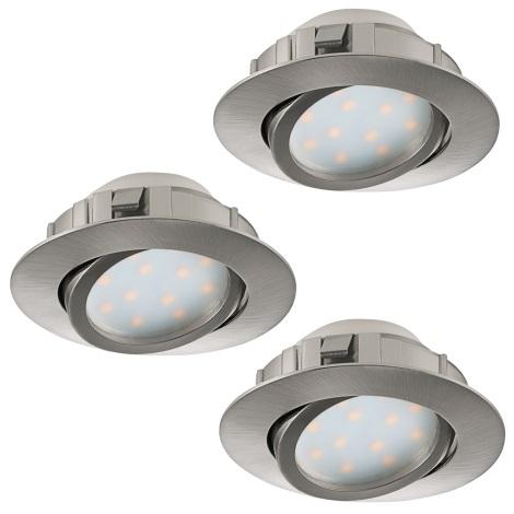 Eglo 95853 - SADA 3x LED podhledové svítidlo PINEDA 3xLED/6W/230V