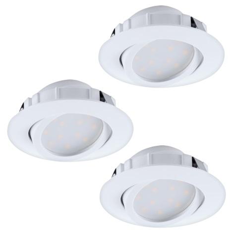 Eglo 95857- SADA 3x LED podhledové svítidlo PINEDA 3xLED/6W/230V
