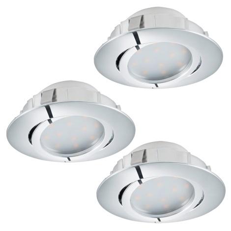 Eglo 95858- SADA 3x LED podhledové svítidlo PINEDA 3xLED/6W/230V