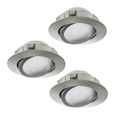Eglo 95859- SADA 3x LED podhledové svítidlo PINEDA 3xLED/6W/230V