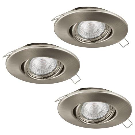 Eglo 95899 - SADA 3x LED podhledové svítidlo PENETO 1 3xGU10-LED/3W/230V