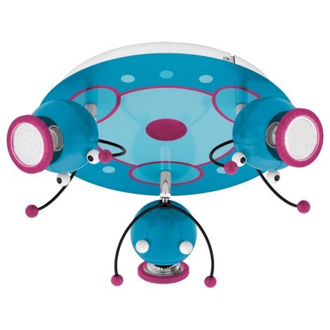 Eglo 95942 - Dětské bodové svítidlo LAIA 1 3xGU10-LED/3W/230V