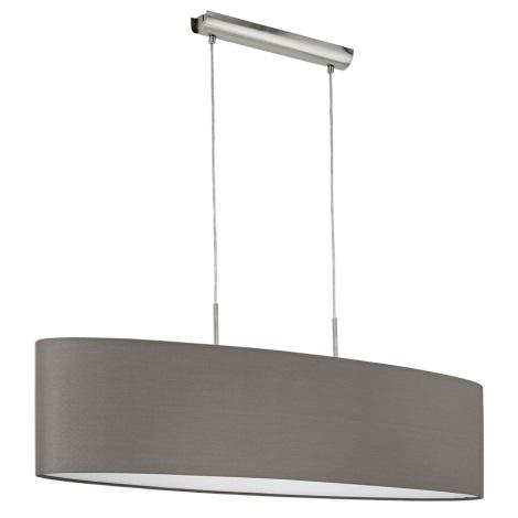 Eglo 96383 - Závěsné svítidlo PASTERI 2xE27/60W/230V hnědá 1000mm
