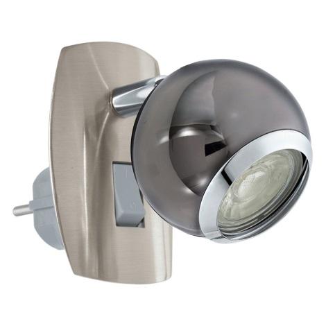 Eglo 96841 - LED Nástěnná lampa do zásuvky BIMEDA 1xGU10/3,3W/230V šedá
