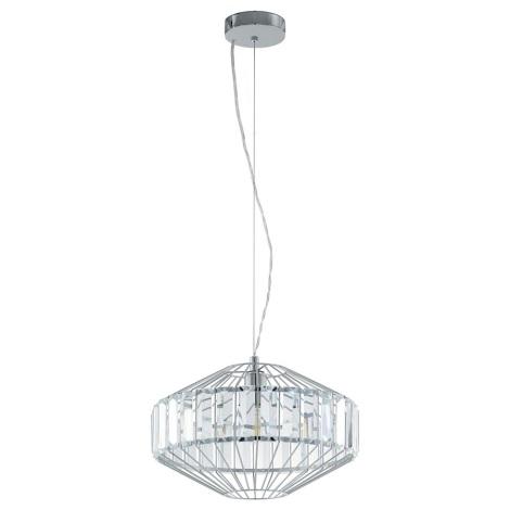 Eglo 96987 - Křišťálové závěsné svítidlo PEDROLA 1xE27/60W/230V