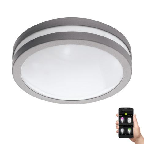 Eglo 97299 - LED Stmívatelné koupelnové stropní svítidlo LOCANA-C LED/14W šedá IP44