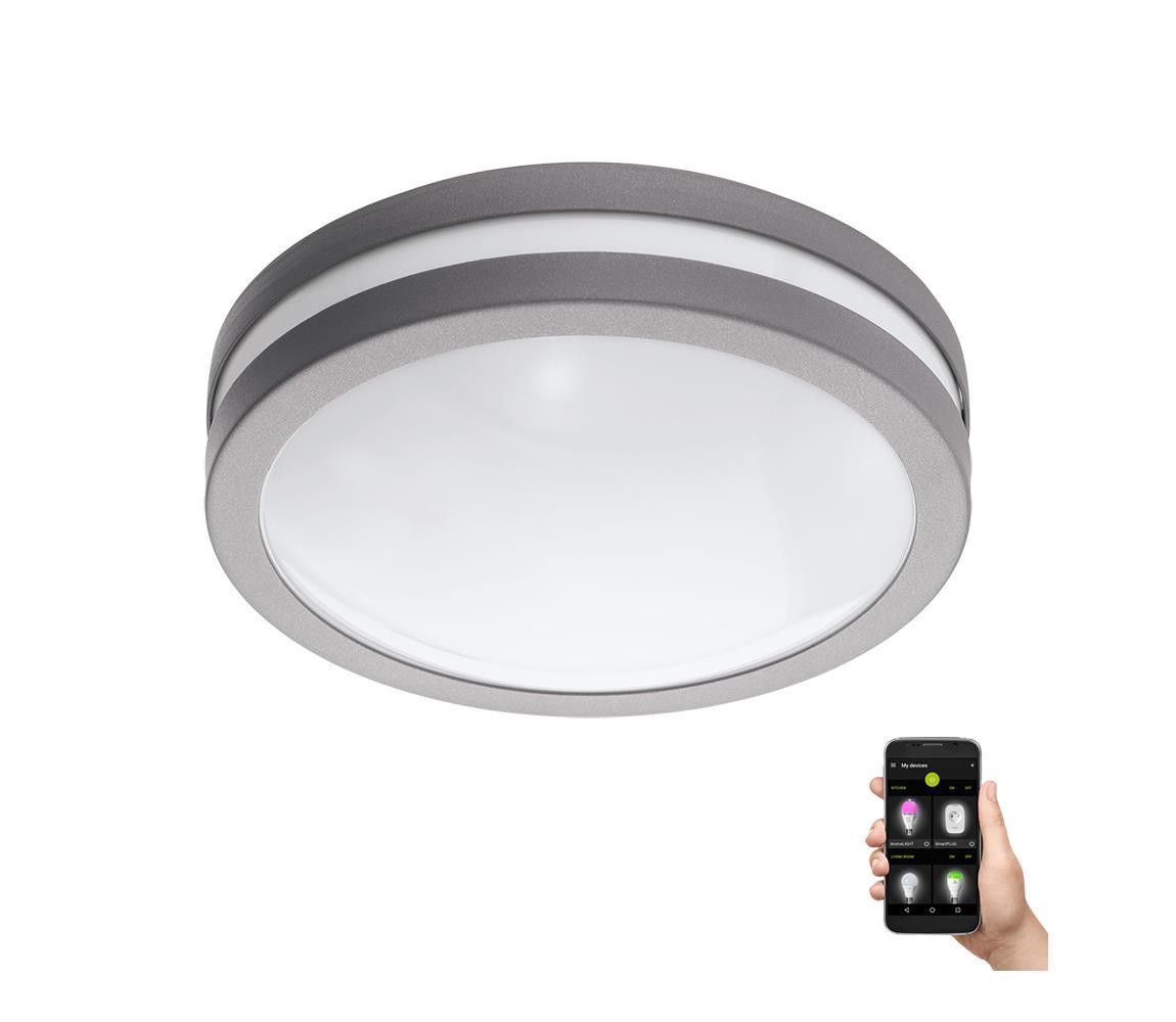 Eglo Eglo 97299 - LED Stmívatelné koupelnové stropní svítidlo LOCANA-C LED/14W šedá IP44 EG97299