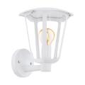 Eglo 98115 - Venkovní nástěnné svítidlo MONREALE 1xE27/60W/230V bílá IP44