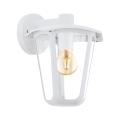 Eglo 98116 - Venkovní nástěnné svítidlo MONREALE 1xE27/60W/230V bílá IP44