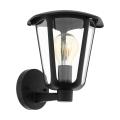 Eglo 98119 - Venkovní nástěnné svítidlo MONREALE 1xE27/60W/230V černá IP44