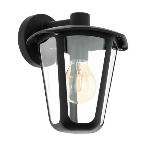 Eglo 98121 - Venkovní nástěnné svítidlo MONREALE 1xE27/60W/230V černá IP44