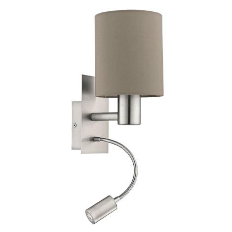Eglo - LED Nástěnné svítidlo 1xE27/40W+LED/3,5W béžová
