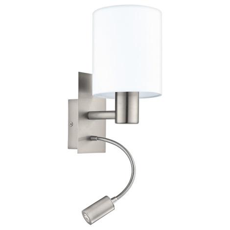 Eglo - LED Nástěnné svítidlo 1xE27/40W+LED/3,5W bílá