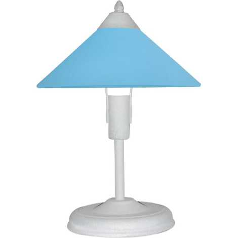 EKO lampa stolní, 1xE27/60W, stříbrná/modrá