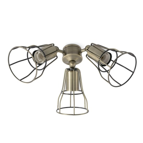 FARO 33717 - Svítidlo pro ventilátor YAKARTA 3xE27/15W/230V bronz